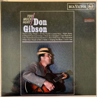Don Gibson ‎- Too Much Hurt (LP) (VG-/VG-)